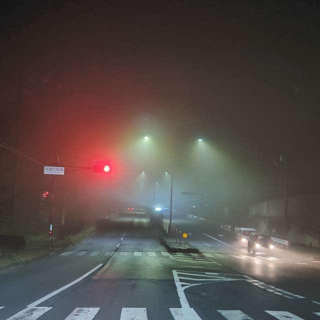 深夜の濃霧