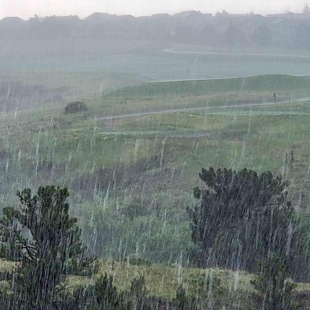 Heavy rain in Parker, CO