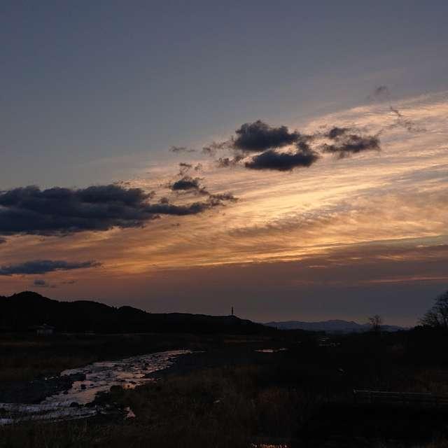 早朝の大谷川より