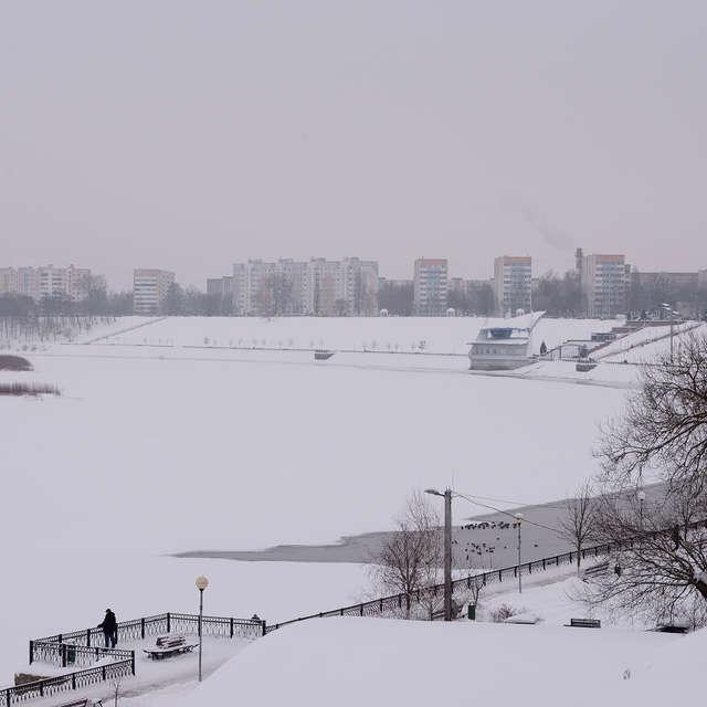 Зима. Парк. Река.
