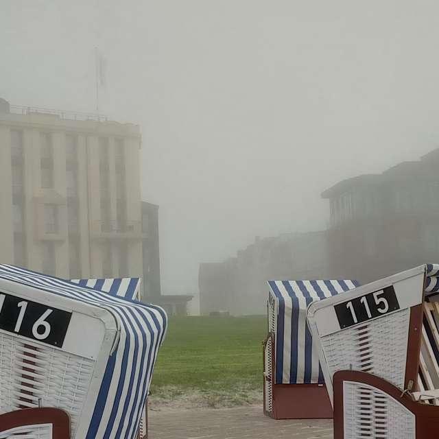 Nordstrand im Nebel