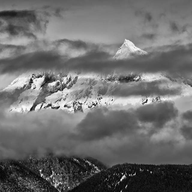 Clouds and Peak and Snow, BC