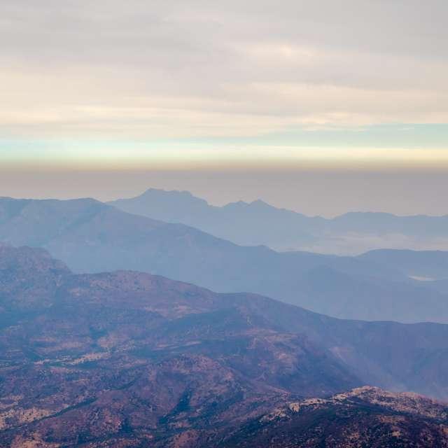 Smog in Santiago, Chile