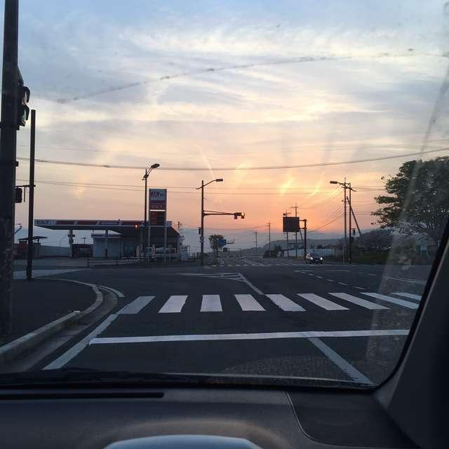 車窓から見る光
