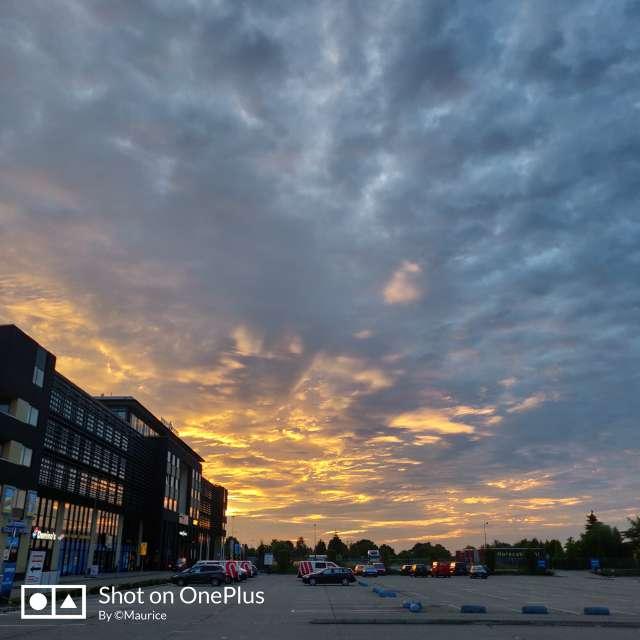 Sunrise on work location.