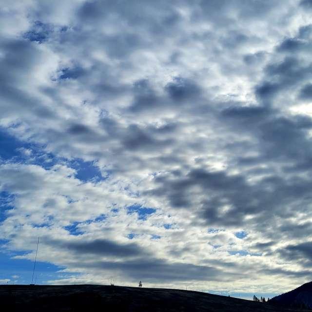 Afternoon 69°F blue skies