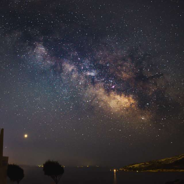 Starry night at sounio