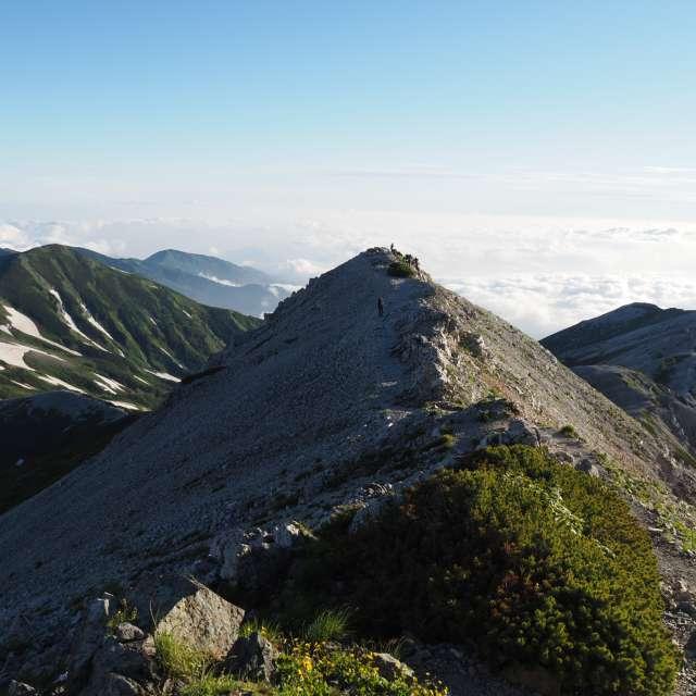 白馬岳から栂池方面への稜線