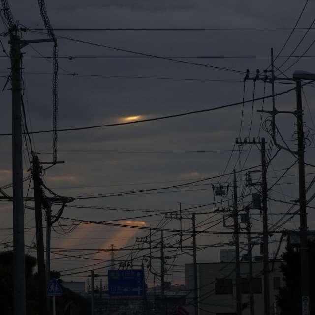 雲から輝く初日の陽光2020