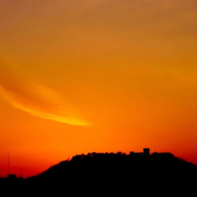 紅に染まる空