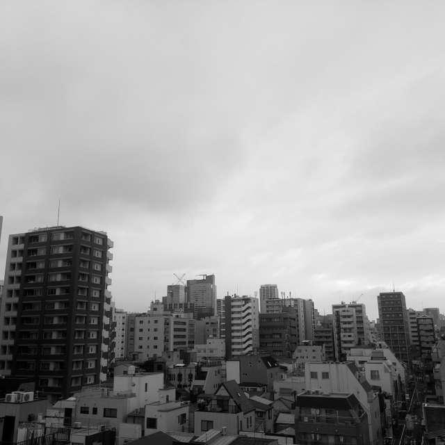 浅草に台風のちょっと前