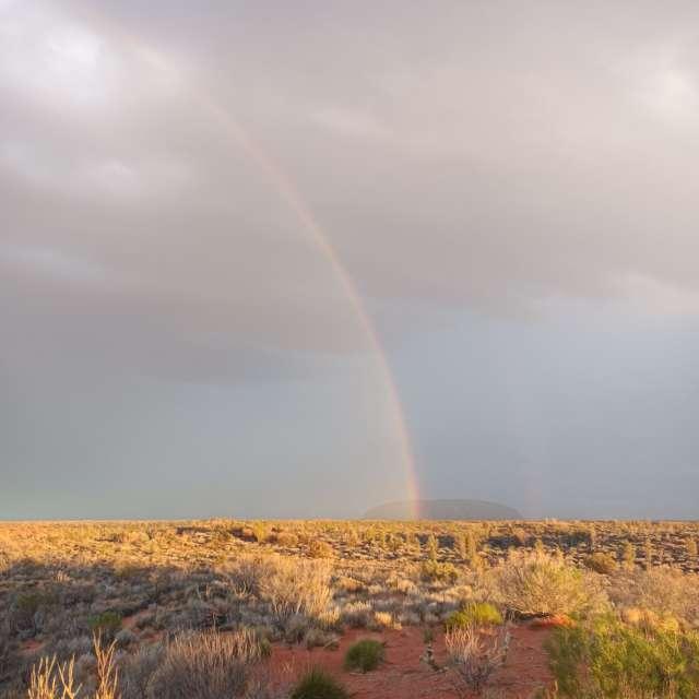 Rainbow and Uluru
