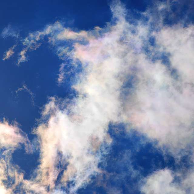 Colored Cirrus Clouds