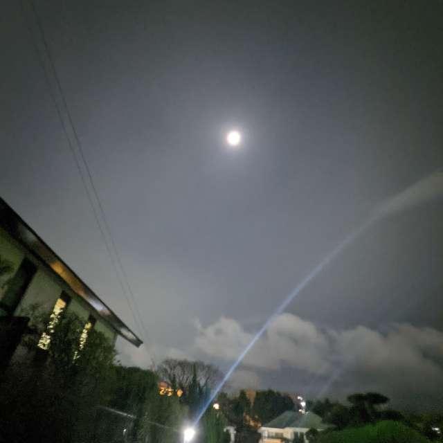 雨上がりの月夜