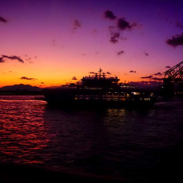 海辺の夕焼け