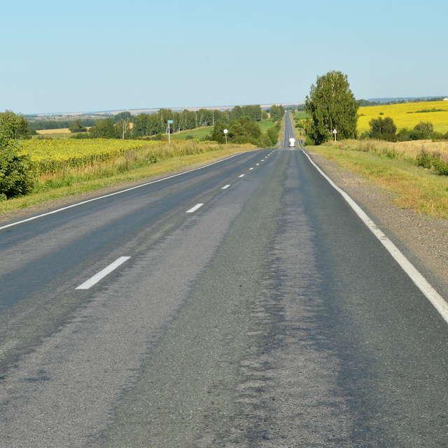 Дорога уходит к горизонту