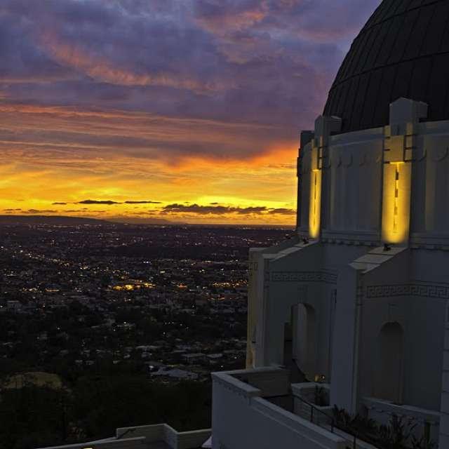 Sunset Palomar observatory
