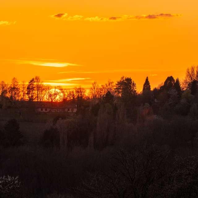Sonnenuntergang mit 600mm
