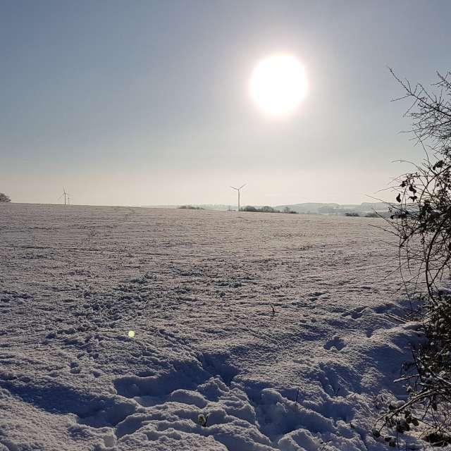 Winterlandshcaft Weitwinkel
