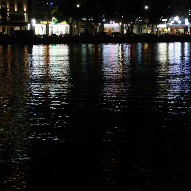 夜の愛河 (高雄) Love River at night
