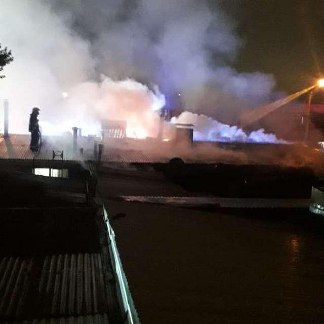 Incendio ocurrido de madrugada