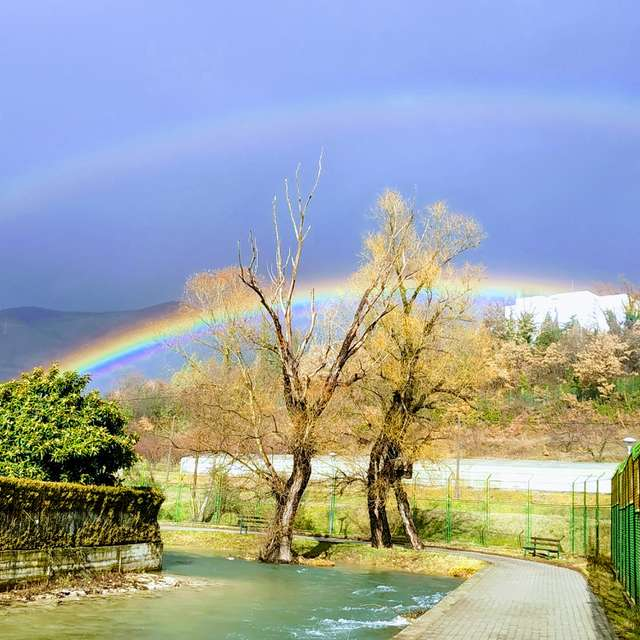 Double rainbow in Mostar(Bare)