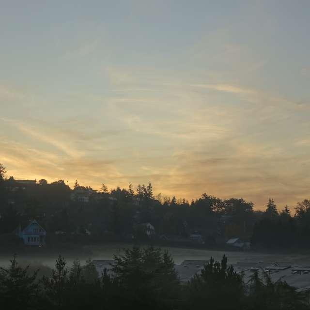 Early clear November morning