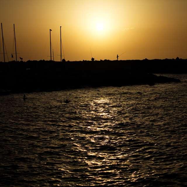 Jaffa dusk, Mediterranean Sea