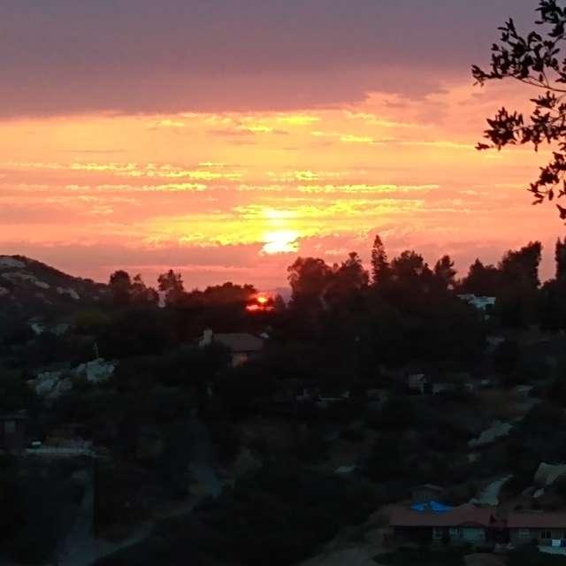 Sunset in crest ca