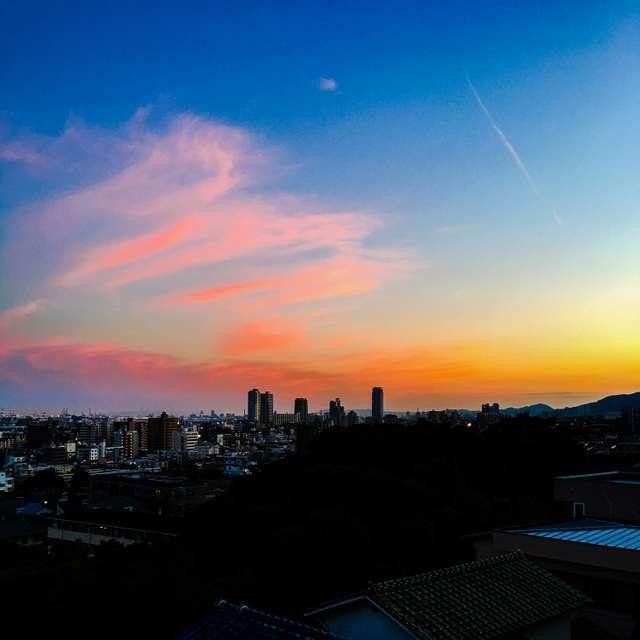 Kobe the sunset