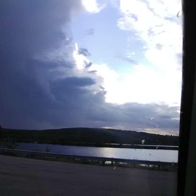 Clouds Moving Thru