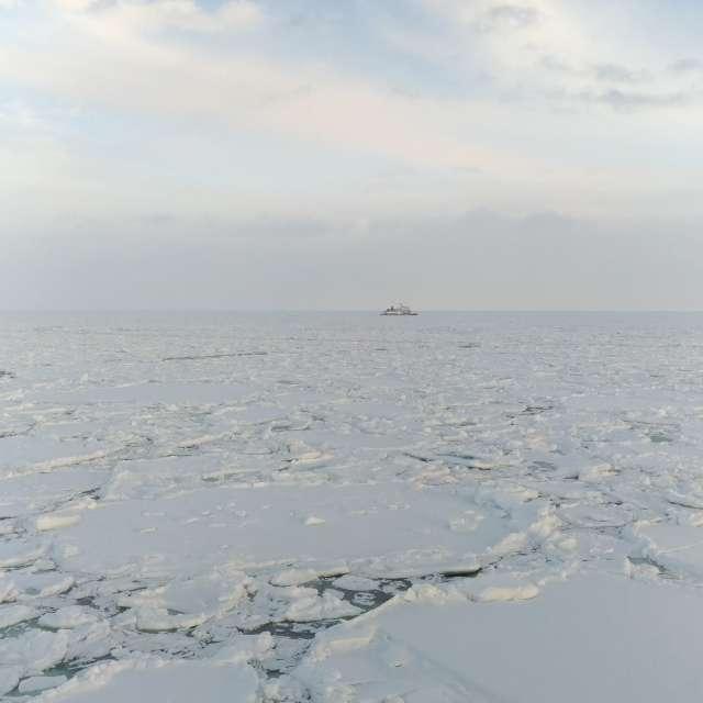 drift ice braker ship/Hokkaido