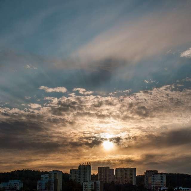 Zachód słońca nad Niedzwiednik