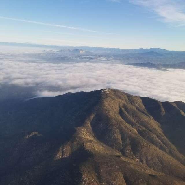 El Cajon Mt with marine layer
