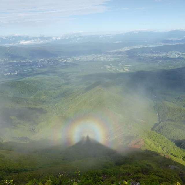 阿弥陀岳のブロッケン現象