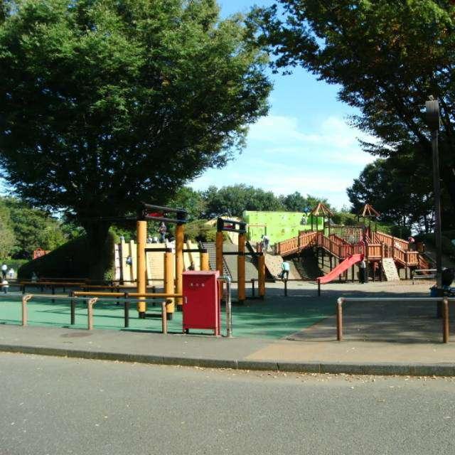 小金井公園の「わんぱく広場」。楽しい遊具がいっぱい。