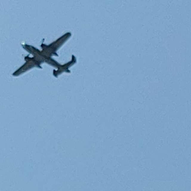 B25 summer fly over