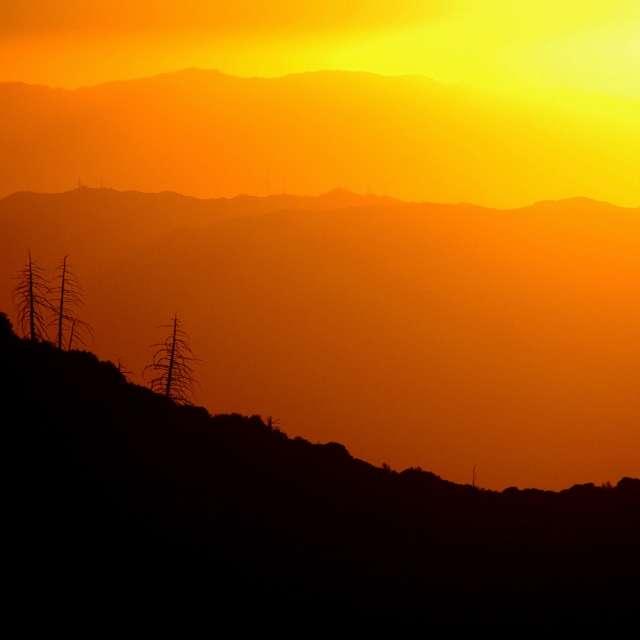 Sunset Santa Anna Mountains