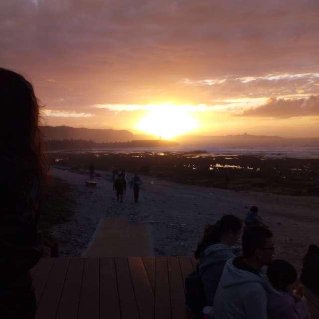 石門洞夕陽