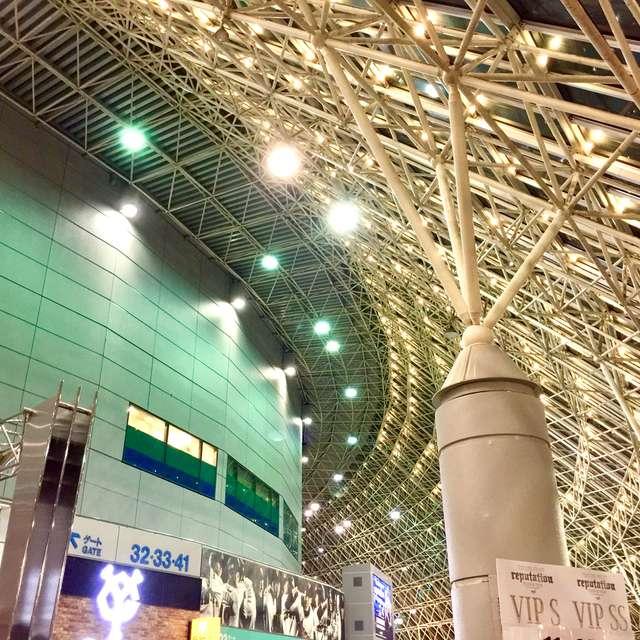 煌びやかな東京ドームの風景