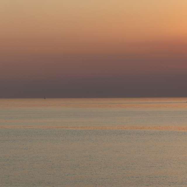 Sunset on the sea of Liguria