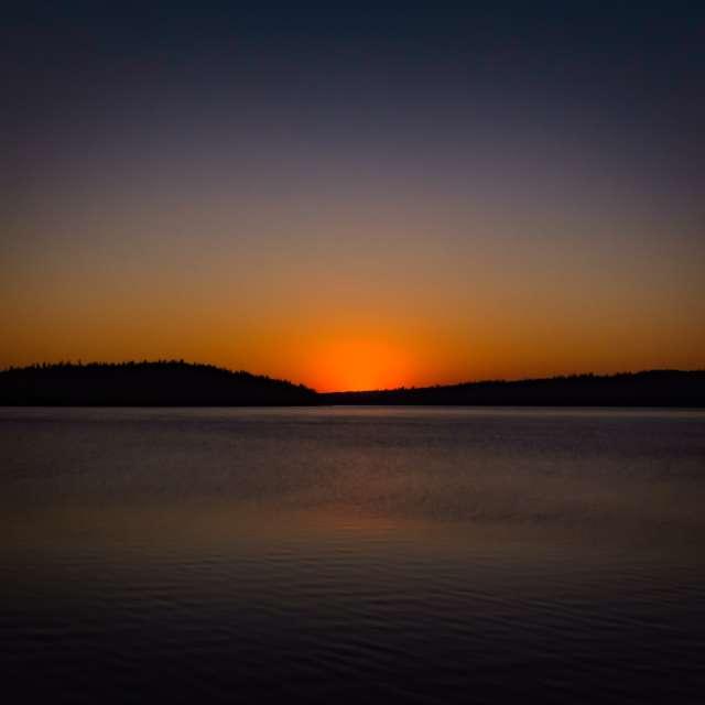 Sunset over Pauline Lake