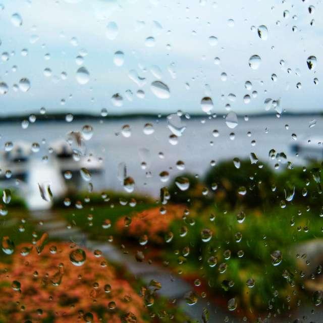 raining at Lake Geneva