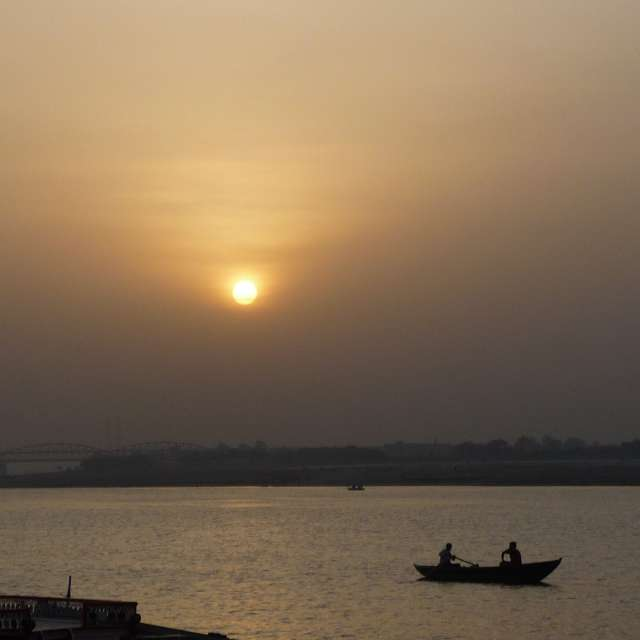 Amanecer en Varanasi
