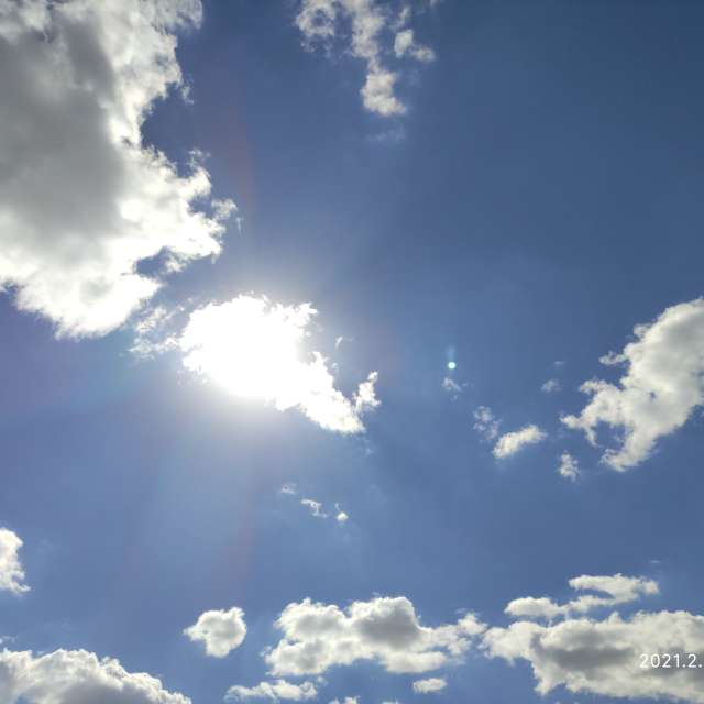 Sunny day with clouds