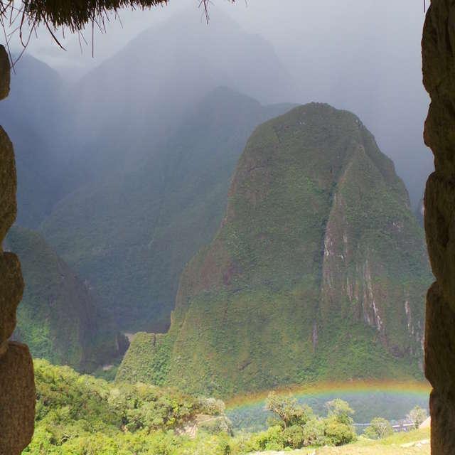 rainbow, Machu Pichu