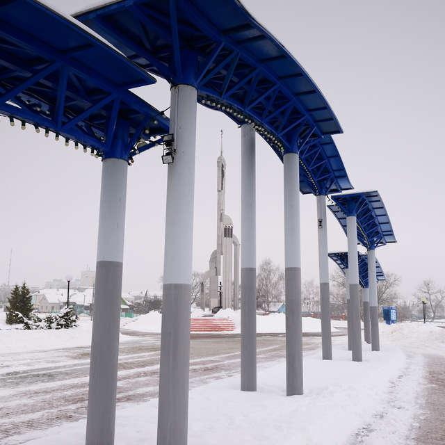 Городская площадь. Зима.