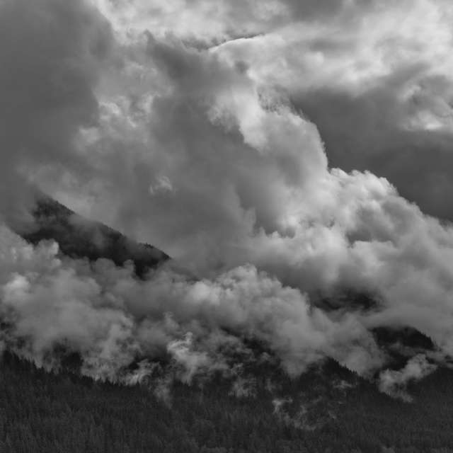 Stormy Clouds in Mtn., BC, CA