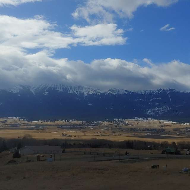 Wallowa mountains in winter