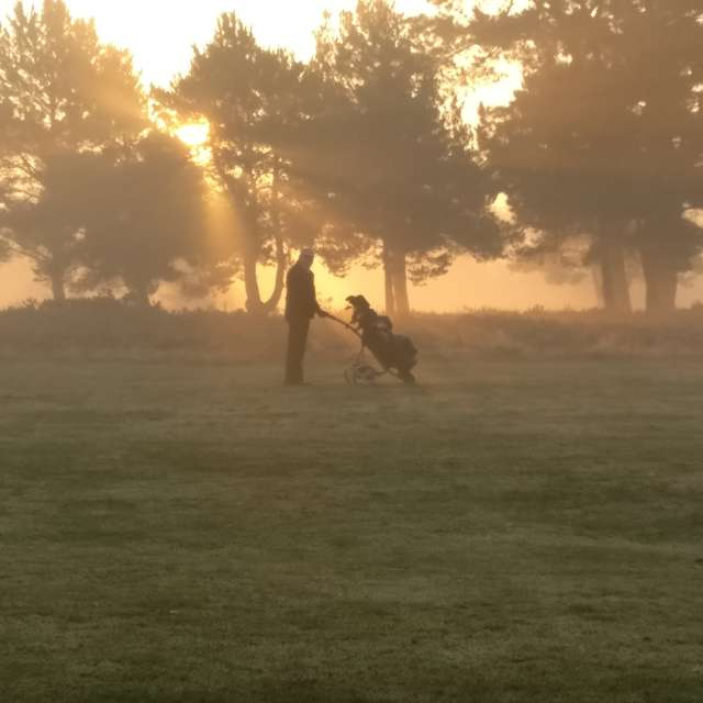 Misty morning on Golf Course
